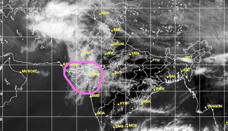 It's cloudy, and rainy day in the month of April in Gujarat!!   DeshGujarat