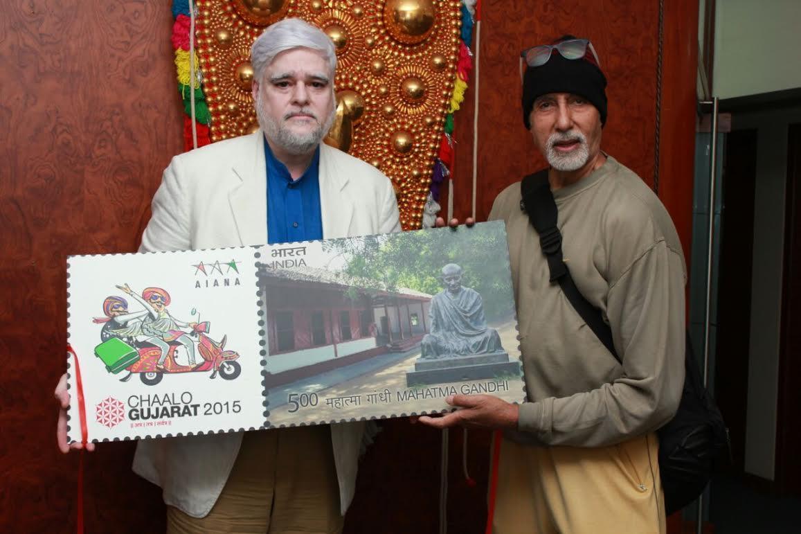 Amitabh Bachchan unveils 'Chaalo Gujarat 2015' postage stamp