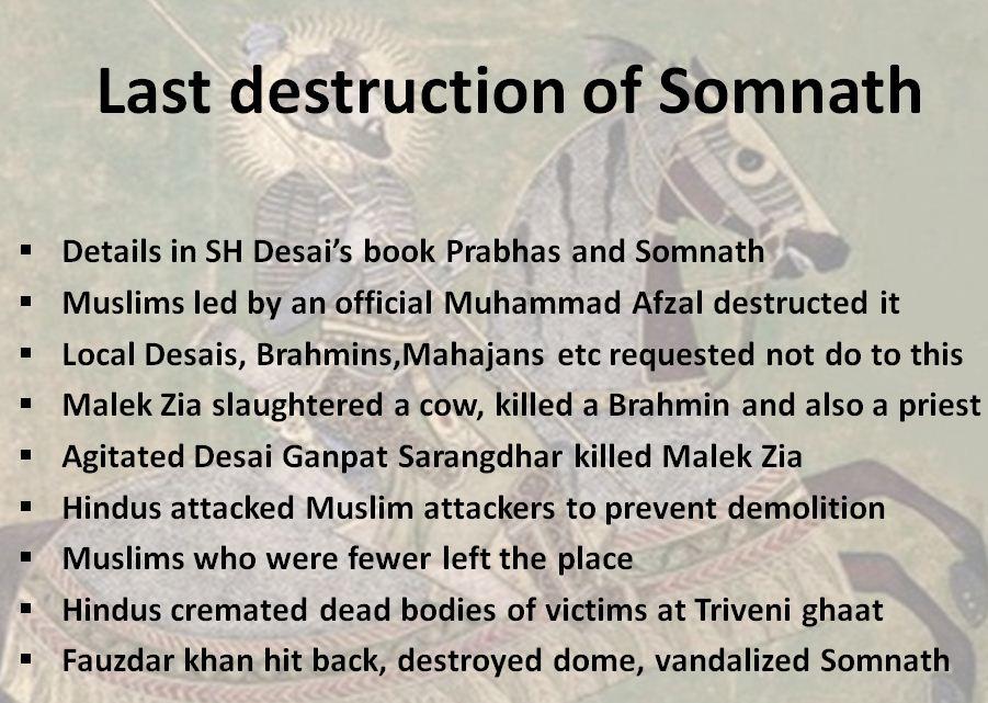 last destruction of Somnath