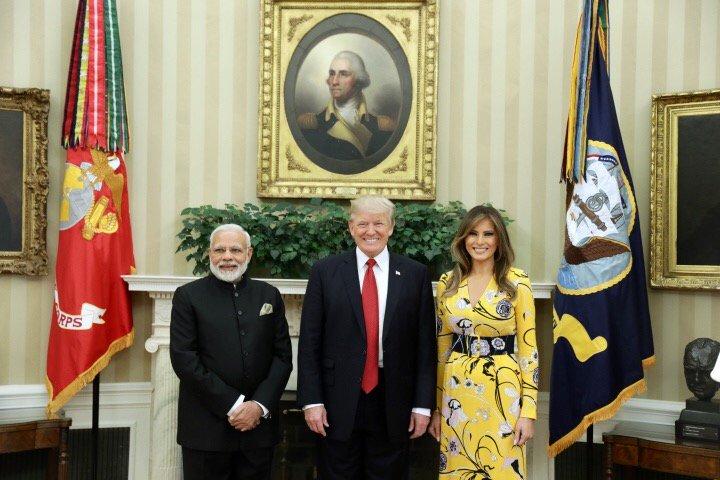 12-member delegation accompanying U.S. President Trump