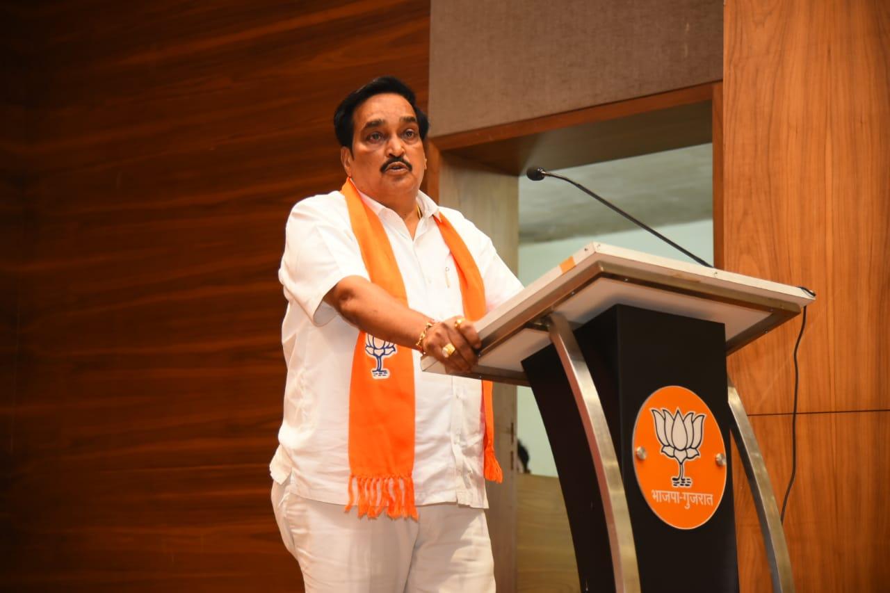 Gujarat BJP chief replies media queries over recent AAP activities in the State
